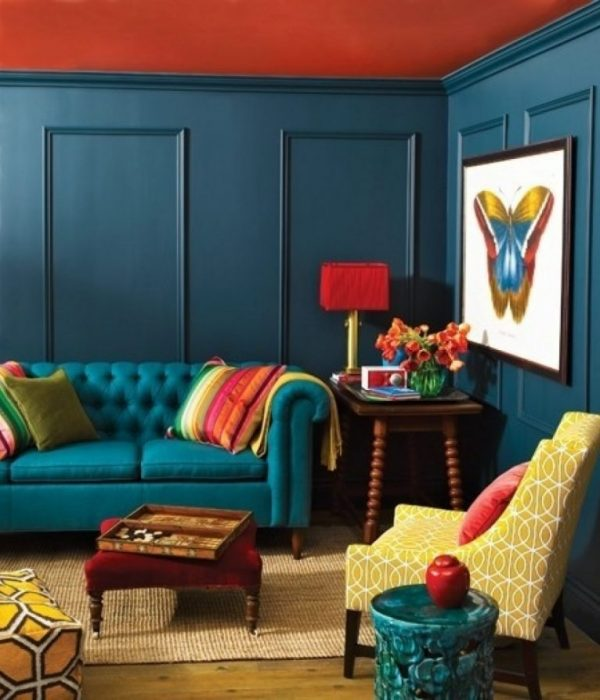Interiors: Look Of The Day – Jewel Hues